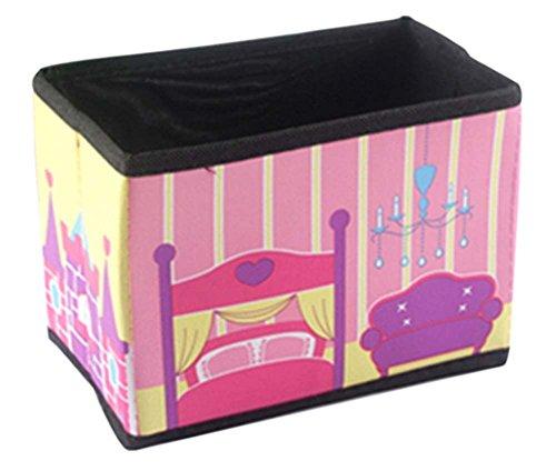 rosa Prinzessin Schloss Autos Mini-Desktop-Aufbewahrungsbox gefaltet