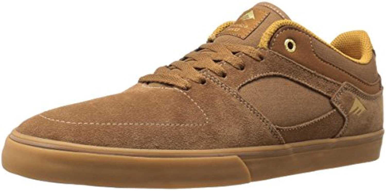 Emerica Herren The HSU Low VULC Brown Gum Skateboardschuhe  Braun