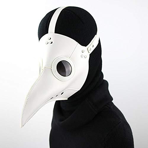 HAOBAO Erwachsene PU-Leder-Maske Halloween-Pest-Vogel-Doktor Steampunk Nasen-Schablone Cosplay Partei-Kostüm-Maske Fünf Wahlen, Grass Green (Verrückteste Kostüm)