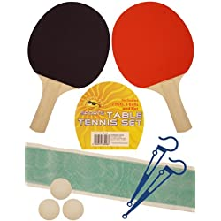 Table Tennis Set - 2 Bats - 3 Balls - 1 Netas