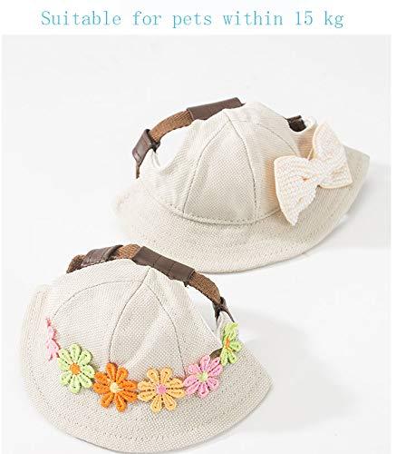 HongBao-Haustier-Strohhut, Haustier-niedlicher Sonnenhut, Haustier-Kopfbedeckung, japanischer (Katze Im Hut Dressing)