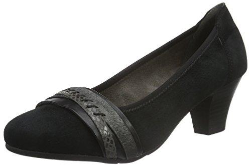 Jana 22300, Escarpins femme Noir (BLACK SUEDE 004)