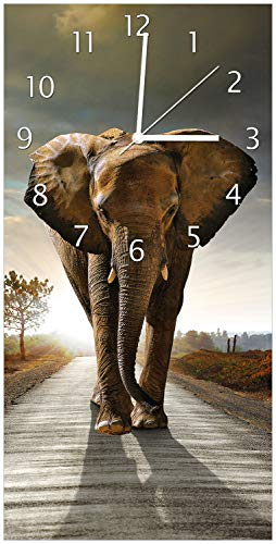 Wanduhr Elefant Elefanten