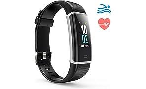 Montre Connectée, Bracelet Connecté Podometre Etanche IP68, Fitness Tracker d'Activité Connecté GPS avec Cardiofréquencemètre pour Femme Homme- Smartphone Samsung Huawei iPhone Xiaomi
