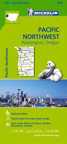 Mapa Zoom. Pacific Northwest (Mapa Zoom Michelin) por MICHELIN