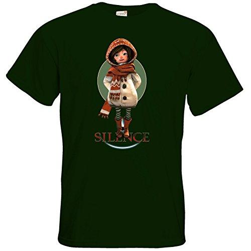 getshirts - Daedalic Official Merchandise - T-Shirt - Silence - Renie Bottle Green