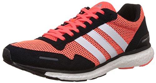 adidas Adizero Adios 3 M, Zapatillas de Running Hombre, Rojo/Negro/Blanco (Rojsol/Negbas/Ftwbla), 44 EU