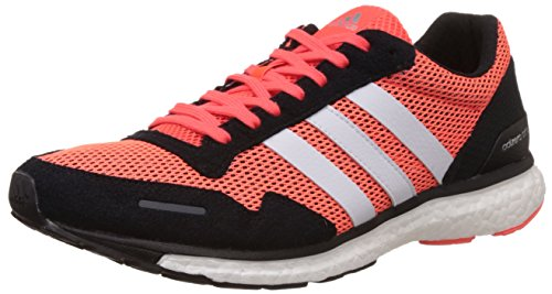 Adidas Adizero Adios 3 M, Laufschuhe für Herren, Rot / Schwarz / Weiß (Rojsol / Negbas / Ftwbla), 44 EU