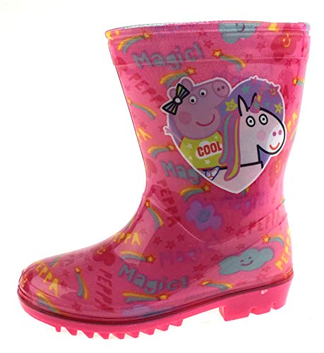 Peppa Pig Girls Glitter Wellington Boots
