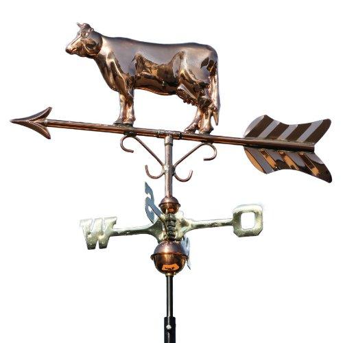 Linneborn Wetterhahn, Motiv Kuh aus Kupfer inkl. Befestigung, Wetterfahne