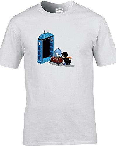 Eat Sleep Shop Repeat Herren T-Shirt Weiß