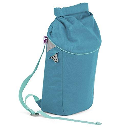Affenzahn Rucksack Parents Bag für Groß und Klein aus Bio Baumwolle für Mütter und Väter petrol (Mutter Baumwolle)