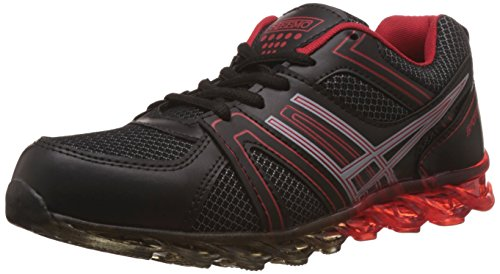 Steemo Men's Black and Red Running Shoes - 9 UK/India (43 EU)(STM1023)