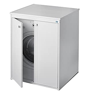 Negrari – Coprilavatrice 5012p móvil en resina al aire libre, blanco, 70 x 60 x 94 cm