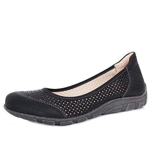 PerTe Damen Halbschuhe Bequeme Ballerinas Komfort Schuhe