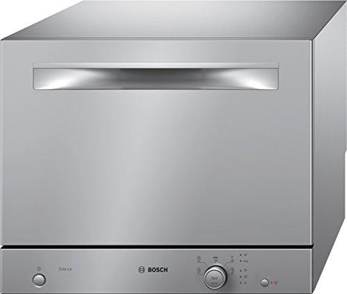 Bosch SKS51E28EU Serie 2 Tischgeschirrspüler / A+ / 174 kWh/Jahr / 6 Maßgedecke / metalldekor / Activewater Technologie / Beladungs-Sensor (Kompakt Waschmaschine Trockner)