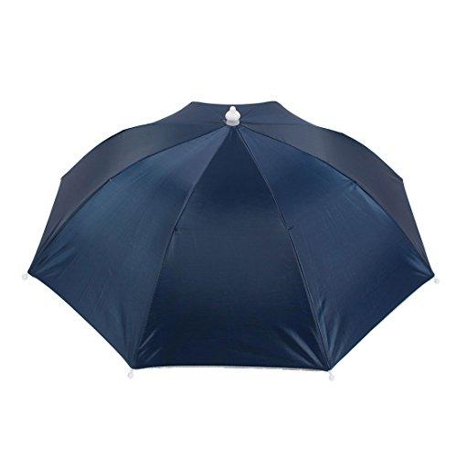 Regenhut Sonnenhut,sourcing map Schirm kopf Tragbare Angeln Sonnenschutz Marineblau Regenschirm Hut zum Angeln de