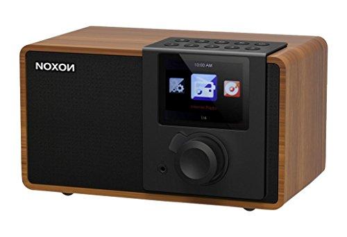 Noxon iRadio 1  Internetradio (TFT Farbdisplay, WLAN, Line-Out, Fernbedienung, Netzteil) Walnuss/schwarz