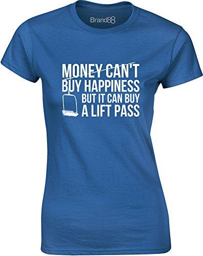 Brand88 - Money Can Buy a Lift Pass, Gedruckt Frauen T-Shirt Königsblau/Weiß