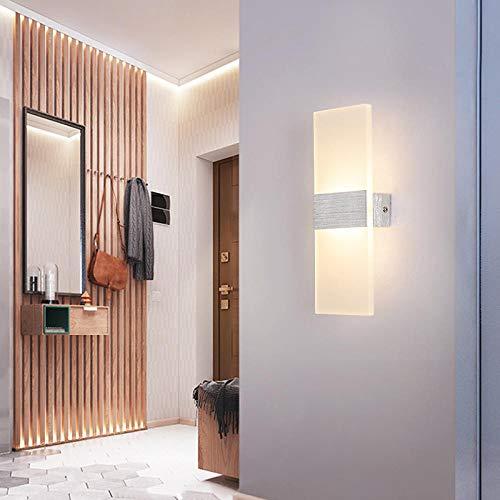 Rechteckige Wandleuchte Kreative Minimalistische Schlafzimmer Wohnzimmer Korridor Gang Wandleuchte Hotel Hotel Rechteckige Wandleuchte @ 40 * 16 16W Weißes Licht + Gebürstetes Silber -