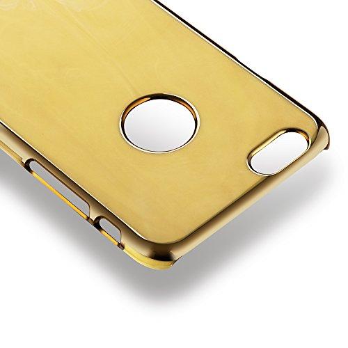 OKCS® Marmor Design Case für Apple iPhone 6 Plus, 6s Plus Hülle Schutzhülle Back Hard Cover - in Gold Gold