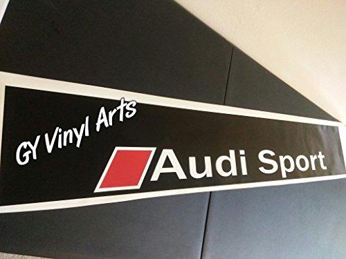 SUPERSTICKI® Audi Sports Windshield Quattro Sun Visor Strip Aufkleber Decal Hintergrund/Maße in inch s Cars Stickers Banners