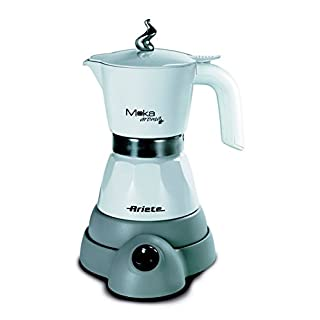 Ariete 1358 Electric Moka Aroma Coffee Machine, 480 W, White