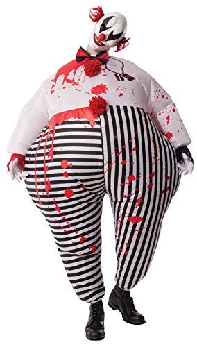 Rubies\'sDisfraz de Payaso de Terror de Halloween, Hinchable, para Adultos, Producto Oficial de Rubie\'S, Tallaúnica estándar