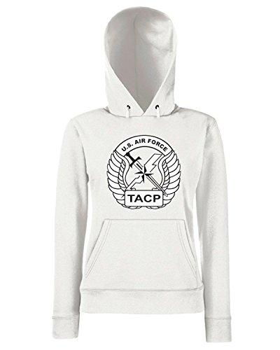 T-Shirtshock - Sweats a capuche Femme TM0365 af tacp logo usa Blanc
