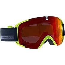 Salomon Xview Gafas de esquí Unisex, Tiempo Variable, Lente roja Multicapa (Intercambiable)