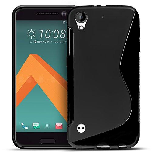 Conie SC5267 S Line Case Kompatibel mit HTC Desire 530, TPU Smartphone Hülle Transparent Matt Rutschfeste Oberfläche für Desire 530 Rückseite Design Schwarz