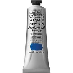 Winsor & Newton Professional - Pintura acrílica tubo 60 ml, color azul ultramar