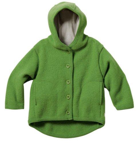 Disana Baby und Kinder Walk Jacke 323 aus Bio Schurwolle kbT, grün Gr. 86/92