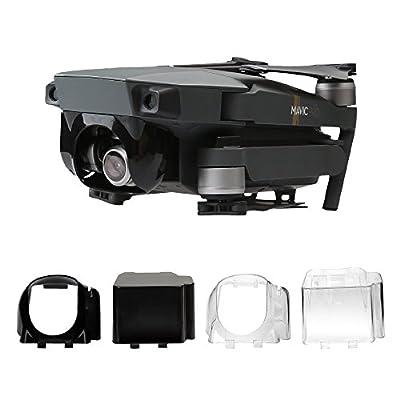 RCstyle Flying & Transport Gimbal Camera Cover Set for DJI Mavic Pro,Black/Transparent