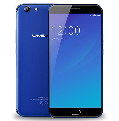 UMIDIGI C NOTE 2 - 5,5 Zoll FHD Gorilla Glas 4 Bildschirm Smartphone, 4GB + 64GB Octa Core 1.5GHz, UMI OS (Android 7.0), 5MP + 13MP 4000mAh Akku - Blau