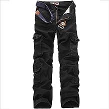 Allthemen Pantalon de Travail Homme Style Cargo - Multipoches sans Ceinture 632a64e7f67