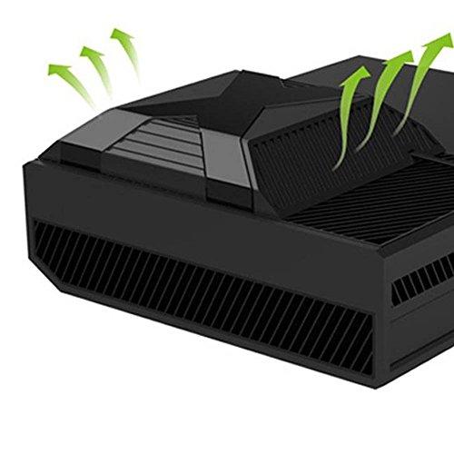 Pandaren® Intelligent Kühler Lüfter für Xbox One (schwarz) es funktioniert wenn die Temperatur über 35 ℃