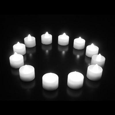 PK Green 12er Set Flammenlose Weiße LED-Kerzen / Teelichter mit Batterien von PK Green - Lampenhans.de
