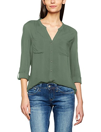 ONLY Damen Bluse Onlfirst LS Pocket Shirt NOOS Wvn, Grün (Laurel Wreath Laurel Wreath), 38 (Grüne Langarm-bluse)