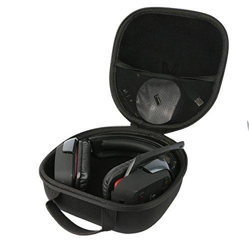 Teckone portatile custodia da viaggio memorizzazione per logitech g430/g930/g230/g933 cuffia gaming surround sound wireless headphone. mesh pocket per altro accessori