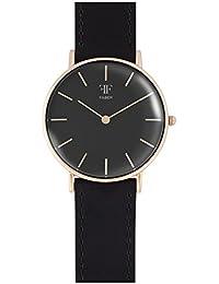 Faber it's_amaz-reloj analógico de cuarzo con correa de acero y cristal de zafiro F201RG