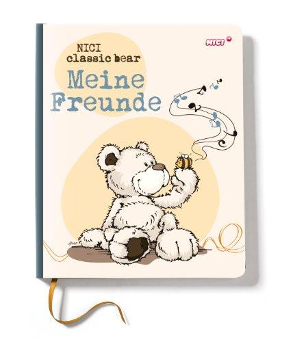 Nici 36985 - Kindergarten Freundebuch Bär, 15 x 18 cm, Creme/braun -