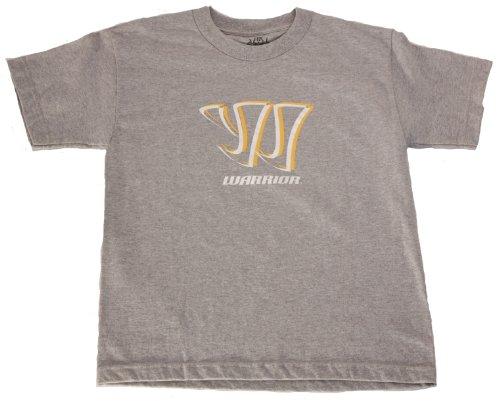 Land Kurzarm Tee (Warrior Shadow Logo Kurzarm Tee, unisex Herren, grau meliert)