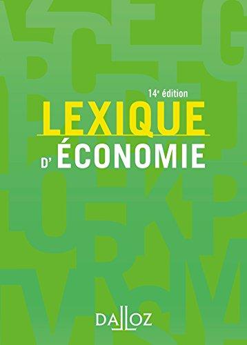 Lexique d'économie - 14e éd.