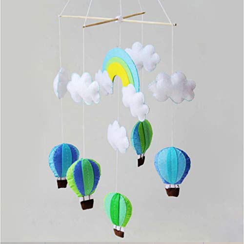 Kingus Schick DIY Stoff Heißluftballon Windspiel vlies Material Paket Mobile Filz Decke Cots Krippen Hängen Vlies Hängen