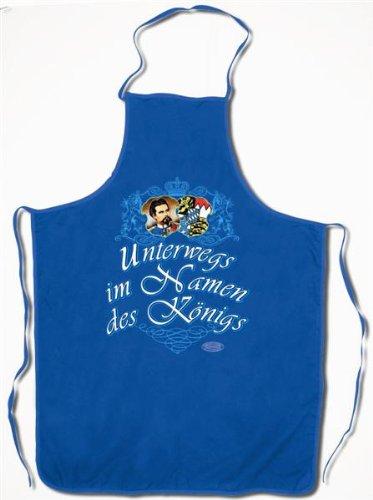 König Ludwig Grillschürze - Unterwegs im Namen des Königs -Grillen Bayern Bavaria Deutschland Germany Neuschwanstein Geschenk