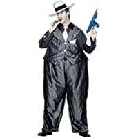 Disfraz de mafioso gordo, color negro