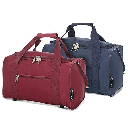 Ryanair 20L Maximal Größe des Handgepäck 40x25x20cm Bordgepäck Gepäck Tasche, Marine + Wein
