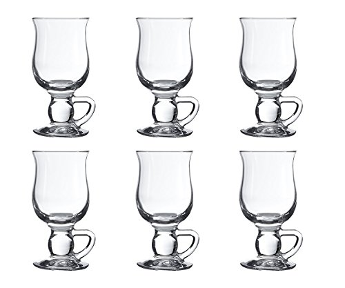 Pasabahce 44159 - Irish Coffee, Punsch, Glühwein, Heiße Schokolade Becher, 6er Set Irish Coffee Set