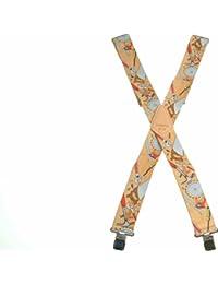 Kunys SP15CR Hosenträger mit Werkzeug-Motiv, 5cm breit